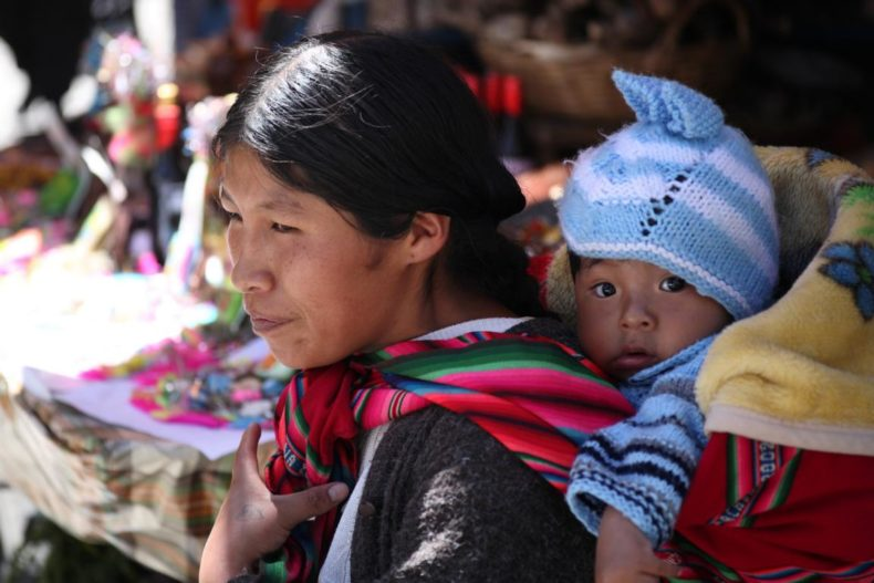 Local Bolivian woman