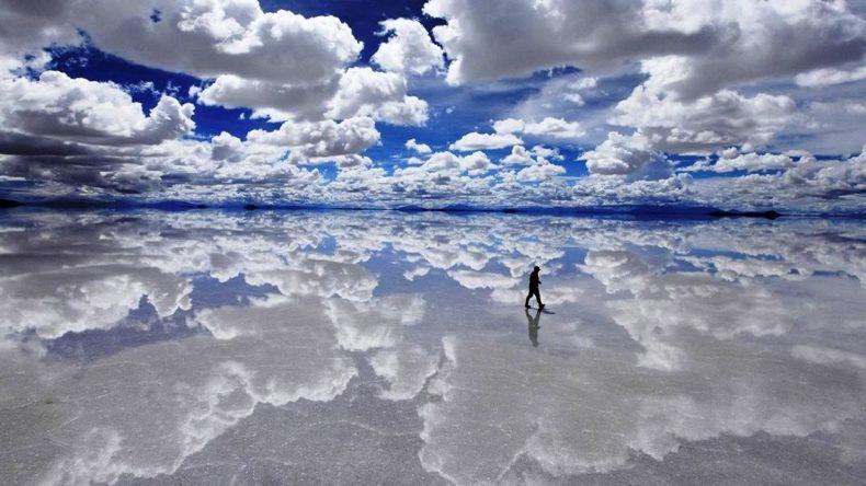 Foto no Salar de Uyuni