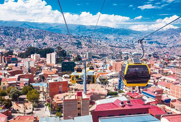 la paz bolivia - la paz teleferico cable cars