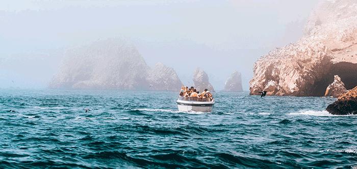 Passeio de barco em Paracas