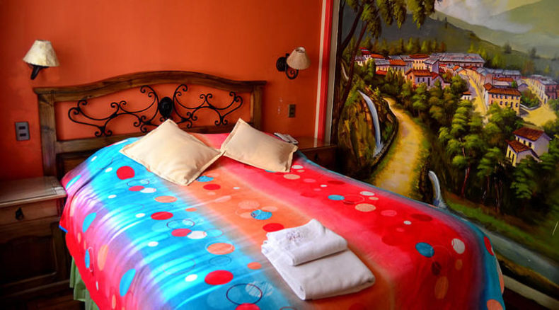 estrella andina's room decoration. One of the best hostels in la paz
