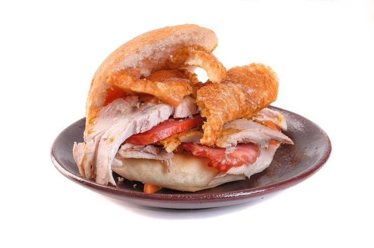 Sandwich de chola. Food in La Paz, Bolivia