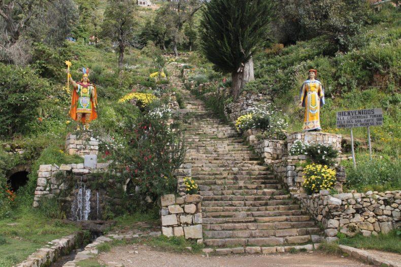 Inca Stairway Isla Del Sol