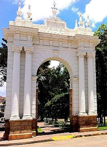 Sucre Bolivia -  Enterance to Parque Bolivar