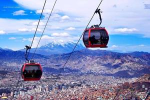 Puno a La Paz de onibus - Teleferico em La Paz
