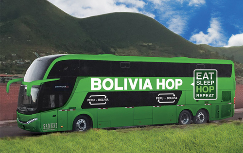 Puno to La Paz By Bus - Bolivia Hop's Double Decker Green Bus