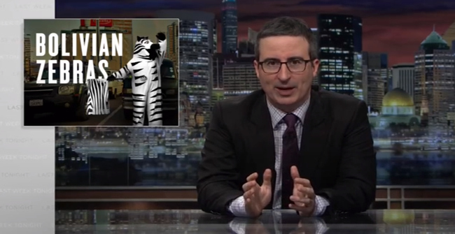 Bolivian Traffic Zebras La Paz - Zebras in the show of John Oliver ´Last Week Tonight´ (21/03/2017)